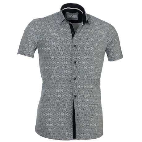 Short Sleeve Button Up // Cool Gray (S)