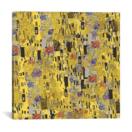 """Gold Explosion // Notsniw Art (12""""W x 12""""H x 0.75""""D)"""