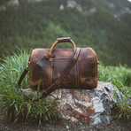 30L Leather Duffel (Antique Brown)
