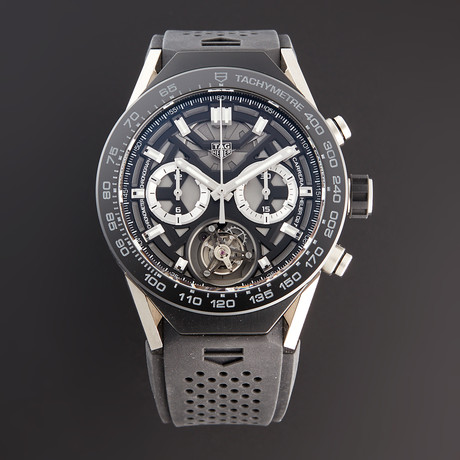 Tag Heuer Connected Modular Tourbillon Chronograph Automatic // SBF8A8001.11EB0099 // Pre-Owned