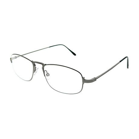 Men's Wire Oval Optical Frames // Silver + Black