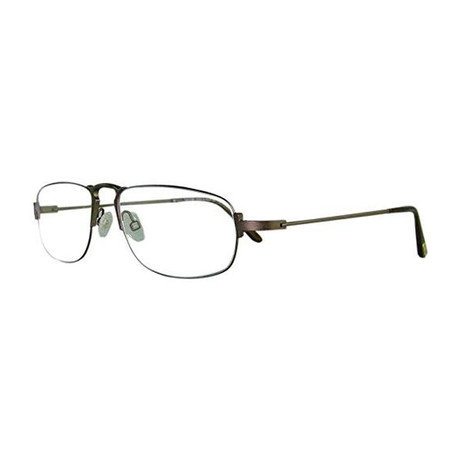 Tom Ford // Men's Wire Oval Optical Frames // Brown