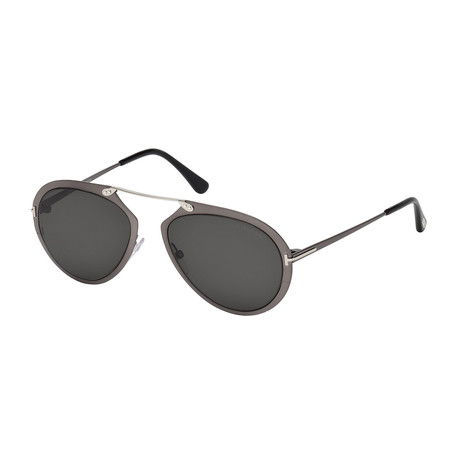 Men's Dashel Sunglasses // Anthracite + Brown