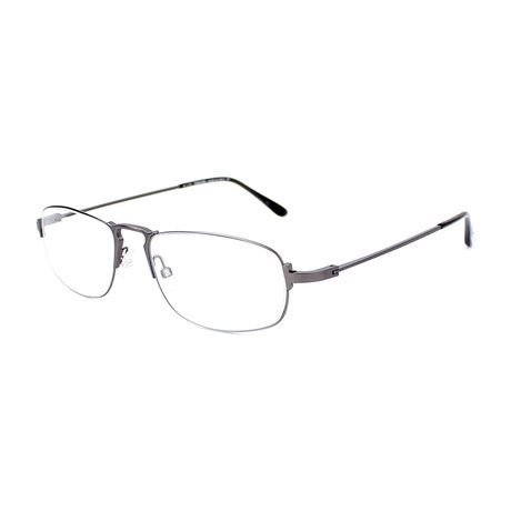 Tom Ford // Men's Wire Oval Optical Frames // Gunmetal