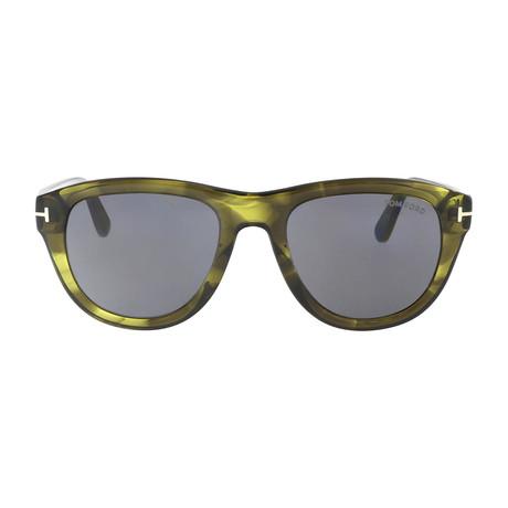 Men's Benedict Sunglasses // Green Tortoise + Gray