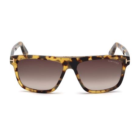Men's Cecilio Sunglasses // Havana + Brown Gradient
