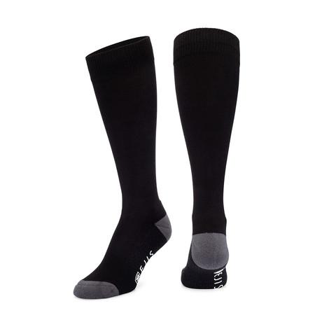 Antimicrobial Dress Socks // Black + Gray