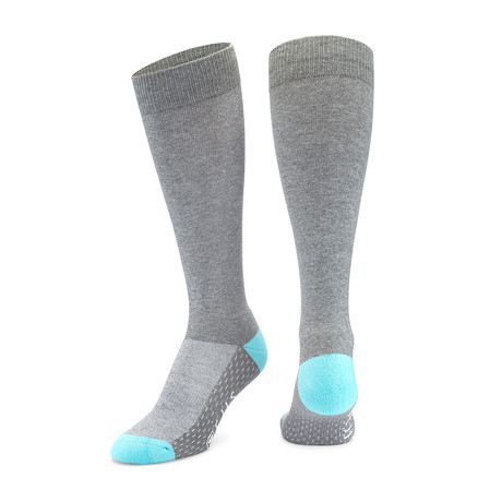 Antimicrobial Dress Socks // Gray + Blue