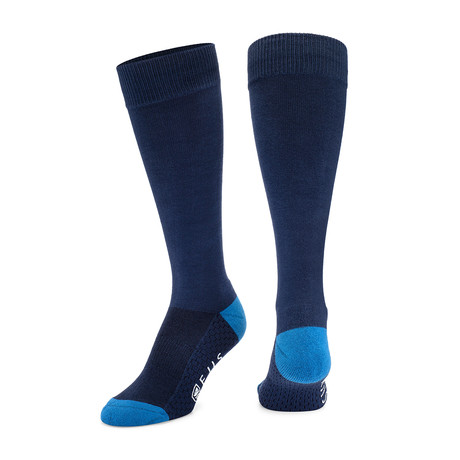 Antimicrobial Dress Socks // Navy + Blue