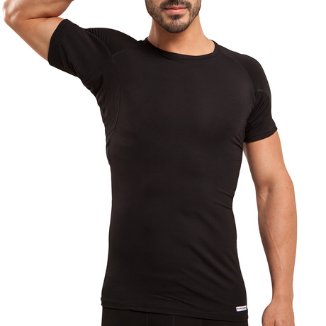 Sweat Proof Crew Neck Undershirt // Black (XS)