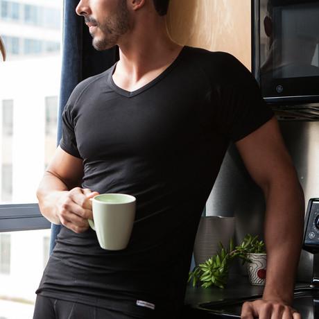 Sweat Proof V-Neck Undershirt // Black (XS)