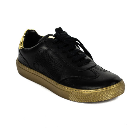 Classic Lace-Up Sneaker // Black + Gold (Euro: 39)