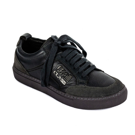 Classic Lace-Up Sneaker // Black (Euro: 39)