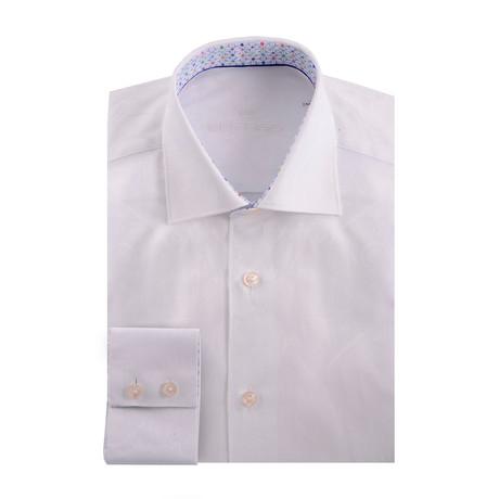 Paisley Jacquard Long Sleeve Shirt // White (XS)
