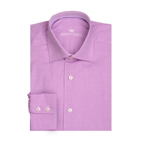 Airplanes Twill Jacquard Long Sleeve Shirt // Purple (XS)