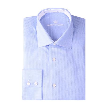 Square Classic Dobby Long Sleeve Shirt // Blue (XS)