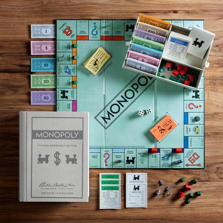 Monopoly Vintage Bookshelf
