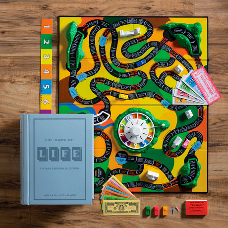 Game of Life Vintage Bookshelf