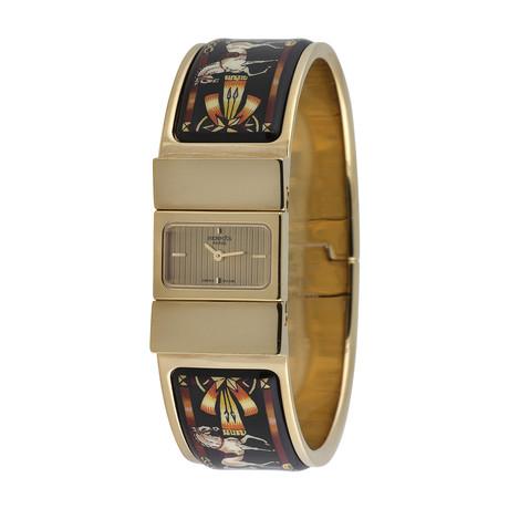 Hermès Ladies Loquet Bangle Horse Quartz // L01.201 // Pre-Owned