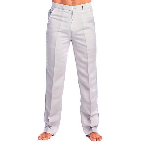 Flat Front Casual Dress Pants // Sand (30WX30L)