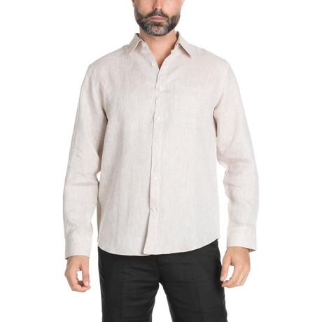 Resort Wear Long Sleeve Shirt // Khaki (S)