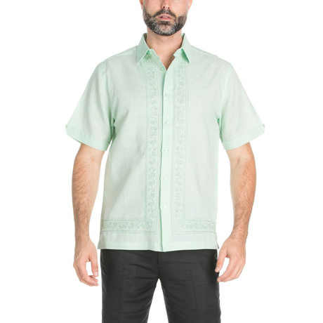Casual Embroidery Shirt // Mint (S)