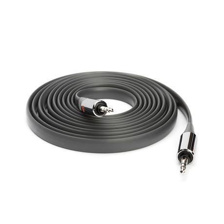 Flat Aux Cable // 10ft // Grey