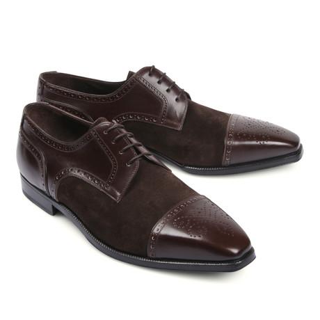 Leather Dress Shoe //Dark Brown (Euro: 39.5)