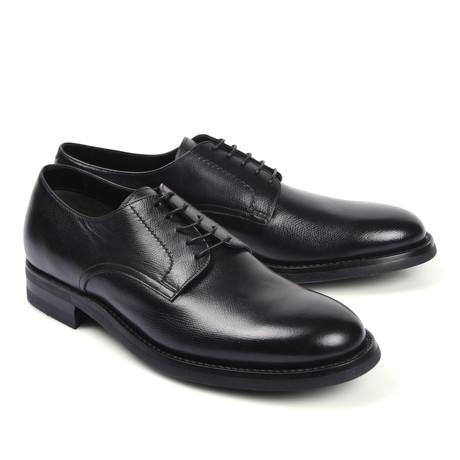Leather Plain Toe Dress Shoe // Black (Euro: 39.5)