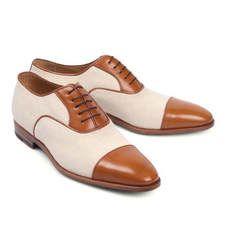Two Tone Cap Toe Shoe //Beige + Cream (Euro: 39.5)