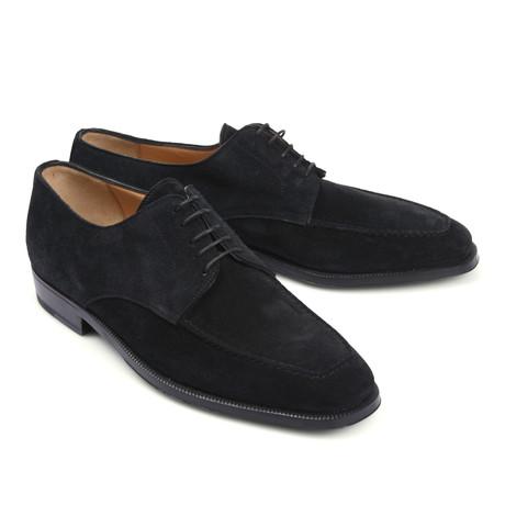 Suede Dress Shoe // Black (Euro: 39.5)