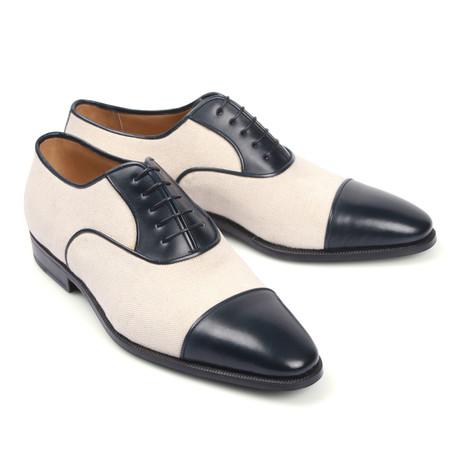 Two Tone Cap Toe Shoe // Black + White (Euro: 39.5)