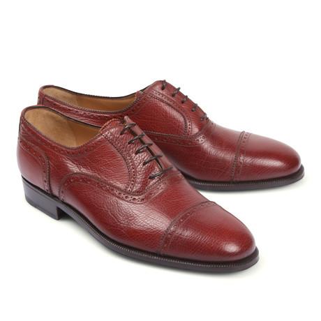 Leather Dress Shoe // Burgundy (Euro: 39.5)