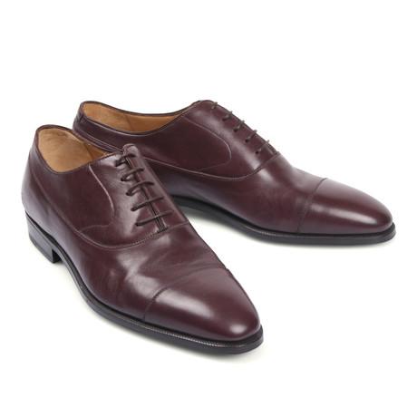 Leather Dress Shoe // Dark Burgundy (Euro: 39.5)