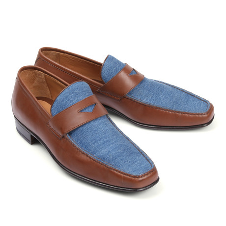 Two Tone Loafer // Blue Brown (Euro: 39.5)