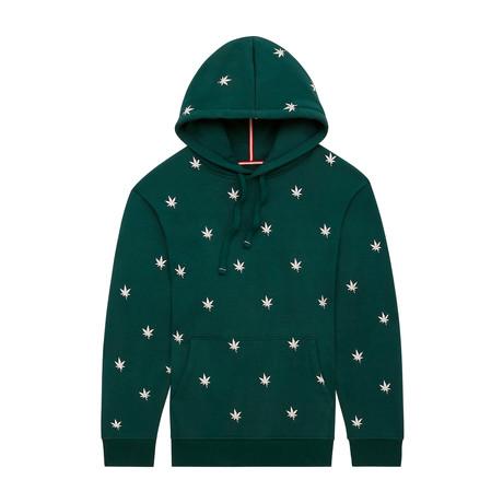 Monogram Pullover Hoodie // Ivy Green (XS)