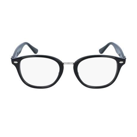 Men's Squared Plastic Optical Frame // Black