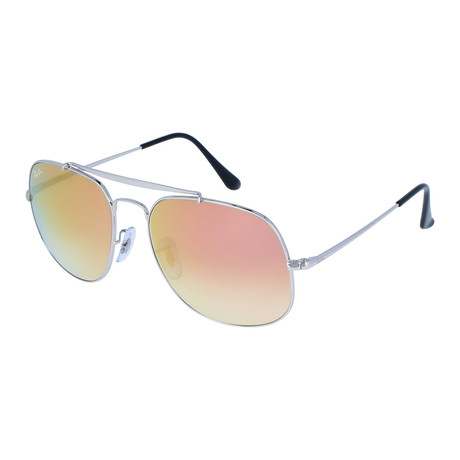 Men's Large General Sunglasses // Silver + Copper Gradient Flash