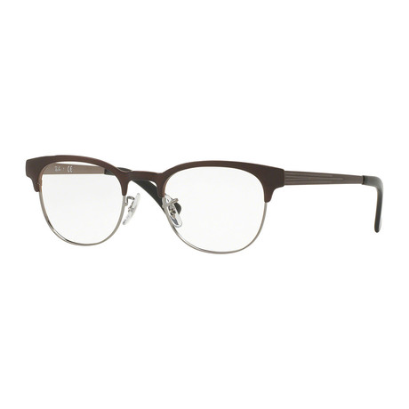 Unisex Clubmaster Optical Frame // Brown + Gunmetal