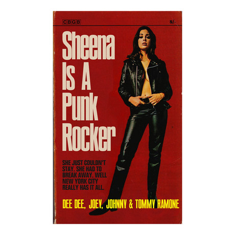 "Ramones ""Sheena Is A Punk Rocker"" 1960s Pulp Novel Mashup (8.5""W x 11""H x 0.1""D)"