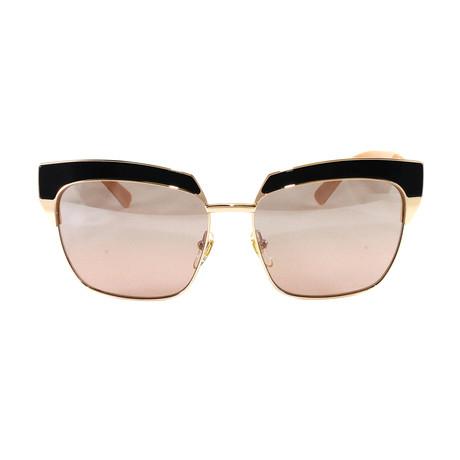 MCM102S Sunglasses // Shiny Rose Gold + Nude Visetos