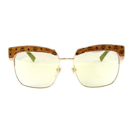 MCM102S Sunglasses // Shiny Rose Gold + Brown Visetos