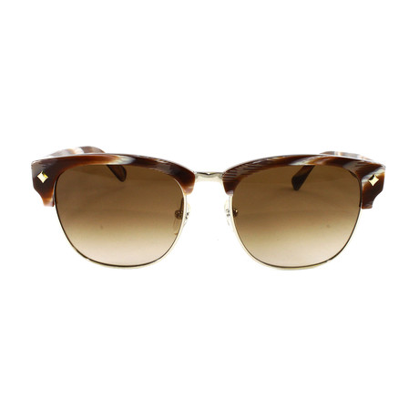 MCM604S Sunglasses // Shiny Gold + Brown Horn