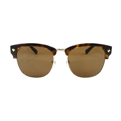 MCM604S Sunglasses // Shiny Gold Havana
