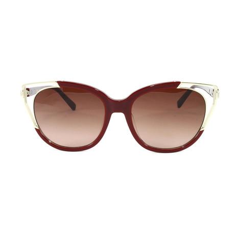 MCM660SA Sunglasses // Burgundy