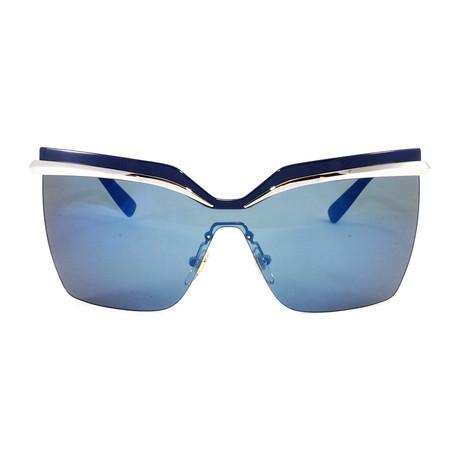 MCM106S Sunglasses // Blue + Silver