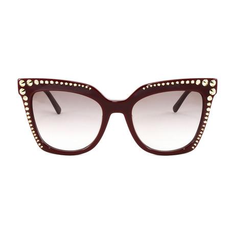 MCM669S Sunglasses // Burgundy