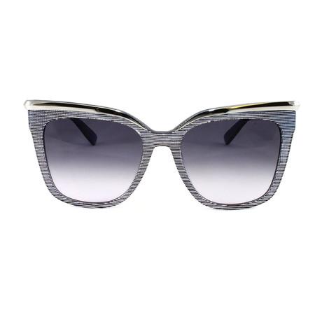 MCM642S Sunglasses // Blue Lurex