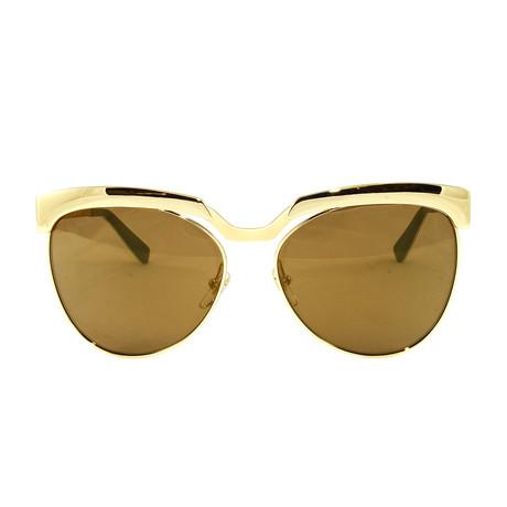 MCM105S Sunglasses // Shiny Gold Monel