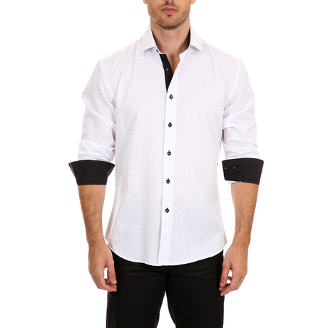 Kline Long-Sleeve Button-Up Shirt // White (S)